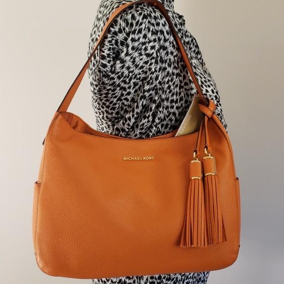 a7a1a3da313f90 Michael Kors Bags | Orange Tote Large Shoulder Bag | Poshmark